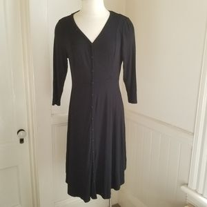 Torrid Black Midi Button Down Dress size 00